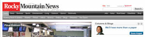 Consumer changes rocky mountain news