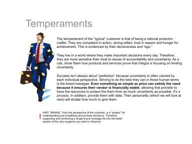 salesforce brand training for the sales force on temperaments