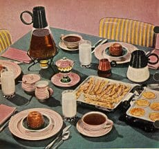 1950's Breakfast table breakfast cereal