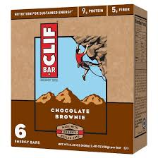 Clif bars and breakfast cereals
