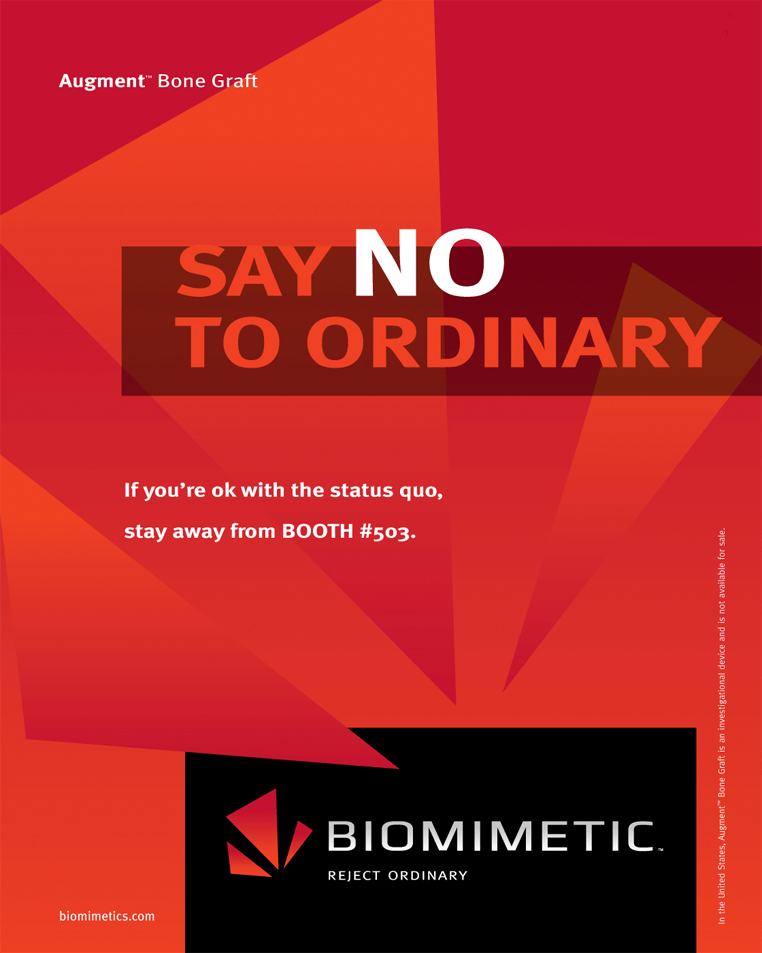 Biomimetic full page ad developed by Stealing Share