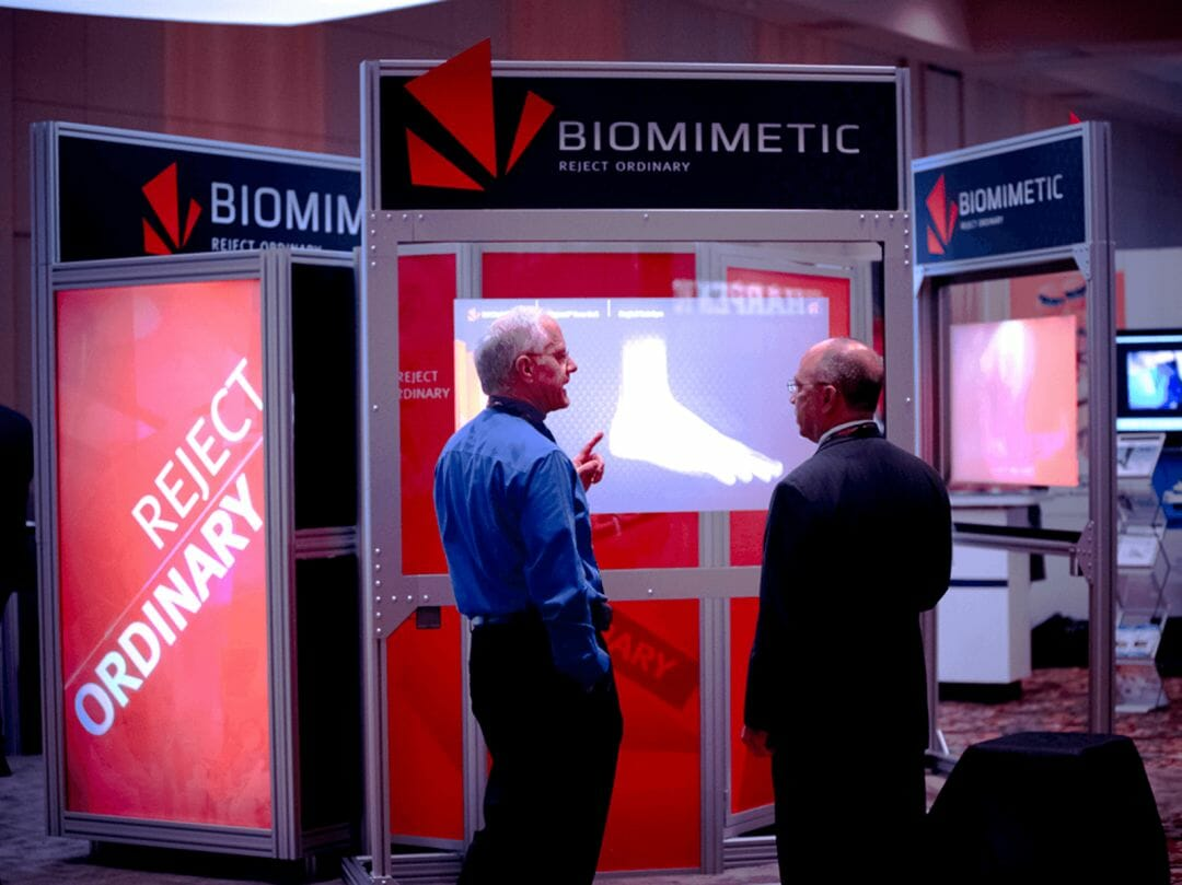 Biomimetic trade show booth and interactive touch screen developed by Stealing Share