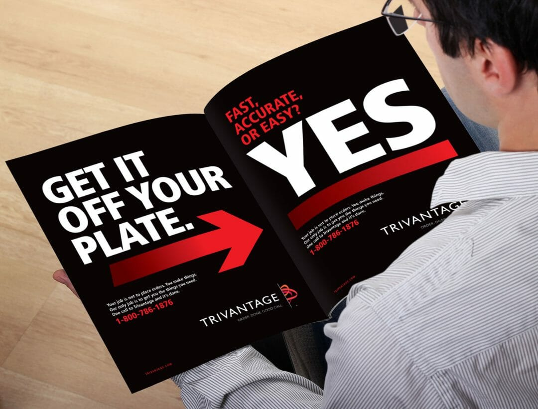 Trivantage brochure developed by Stealing Share