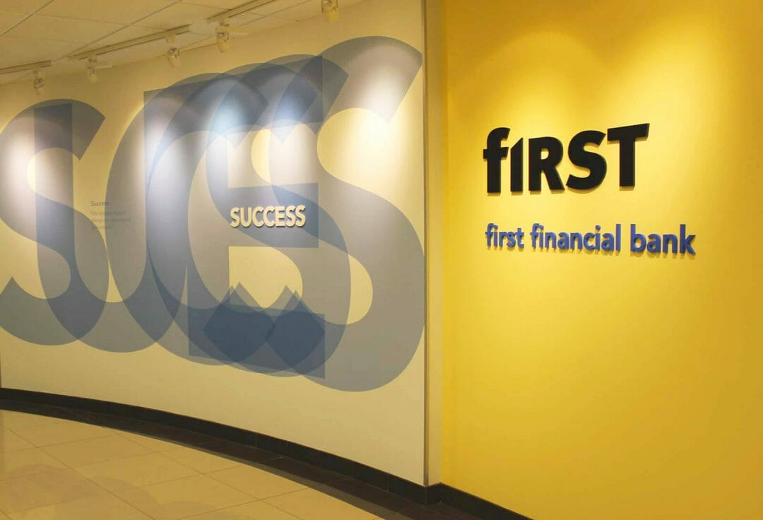 First Financial Bank interior developed by Stealing Share
