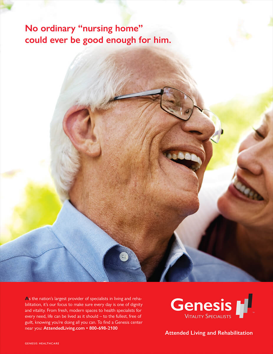 Genesis HealthCare Ad developed by Stealing Share