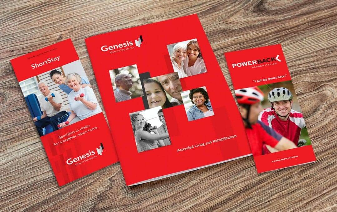 Genesis HealthCare brochure developed by Stealing Share