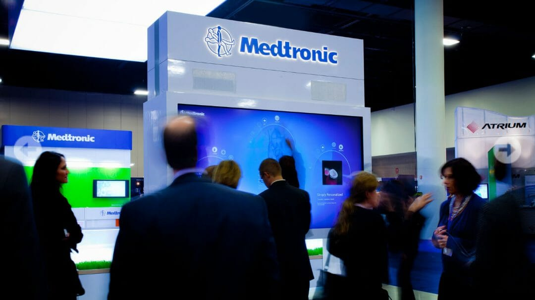 Medtronic Heart Valve booth developed by Stealing Share