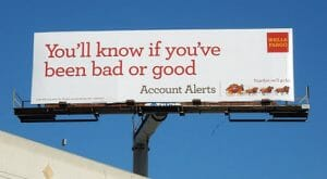 wells fargo account alerts billboard