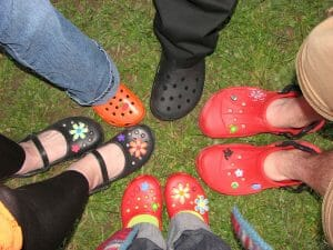 The Crocs brand is making a comeback. Of a sort.